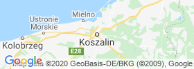Koszalin map